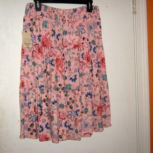 St Johns Bay Peach Floral Dream Skirt